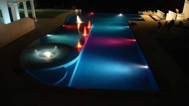 camp netanya infinity top view of pool at night