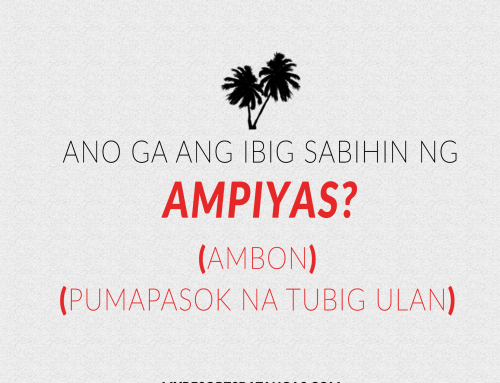 Batangueño Word of the Week #1: AMPIYAS