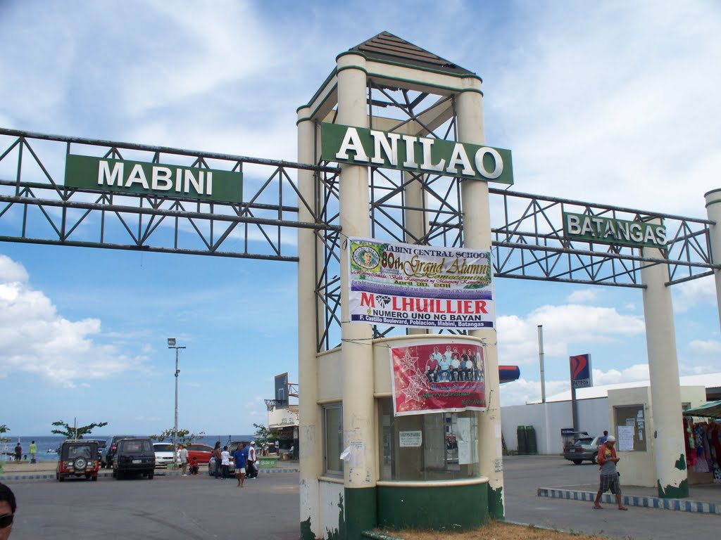 Anilao mabini batangas welcome marker