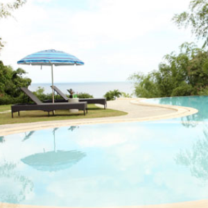 swimming pool view at bambu villa